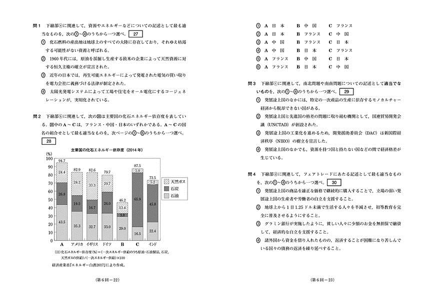 2020進研[センター試験]直前演習 現代社会(冊子版)「問題1」